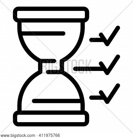 Speed Hourglass Time Management Icon. Outline Speed Hourglass Time Management Vector Icon For Web De