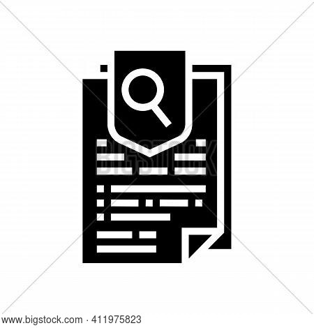 Agreement Research And Health Protect Glyph Icon Vector. Agreement Research And Health Protect Sign.