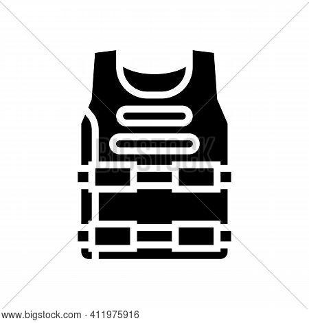Body Armour Protect Glyph Icon Vector. Body Armour Protect Sign. Isolated Contour Symbol Black Illus
