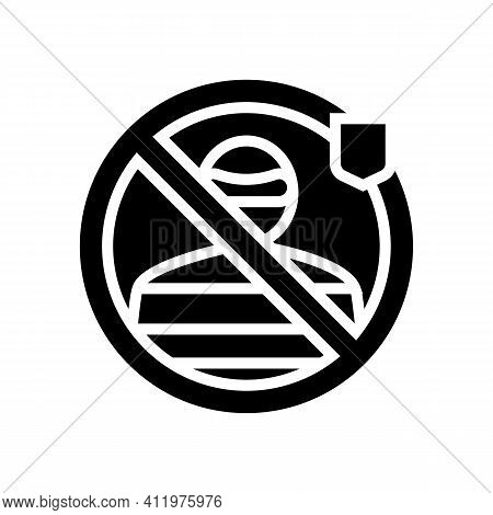 Thief Protect Glyph Icon Vector. Thief Protect Sign. Isolated Contour Symbol Black Illustration