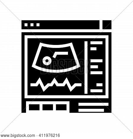 Ultrasound Radiology Glyph Icon Vector. Ultrasound Radiology Sign. Isolated Contour Symbol Black Ill