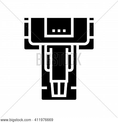 Ct Scan Radiology Glyph Icon Vector. Ct Scan Radiology Sign. Isolated Contour Symbol Black Illustrat