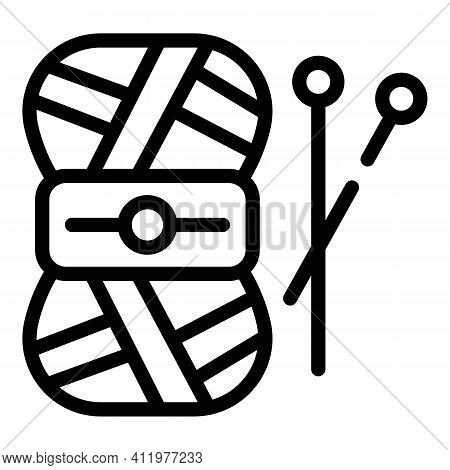 Knitting Hobby Icon. Outline Knitting Hobby Vector Icon For Web Design Isolated On White Background