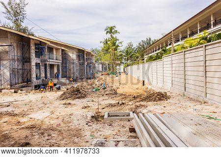 The Boundary Precast Concrete Wall During Construction