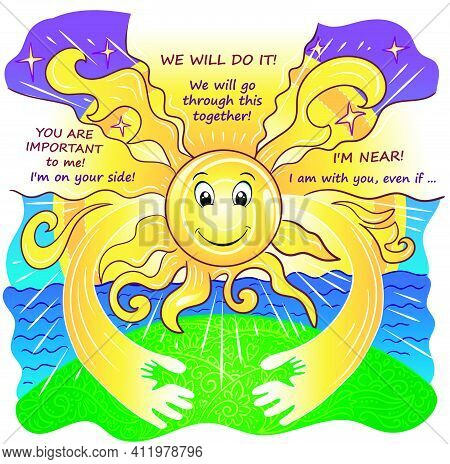 Greeting Card Care And Sun And Support