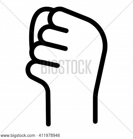 Hand Gesture Revolution Icon. Outline Hand Gesture Revolution Vector Icon For Web Design Isolated On