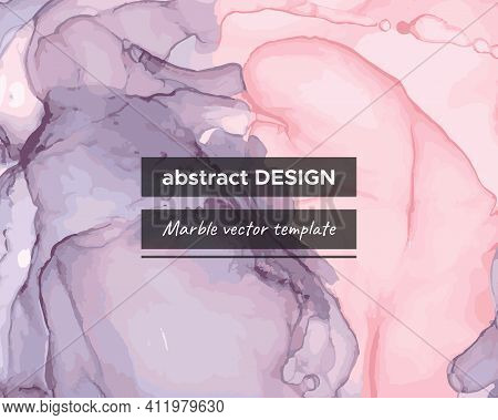 Vector Alcohol Inks. Liquid Marble Paper. Vintage Art Wallpaper. Trendy Simple Wall. Color Alcohol I