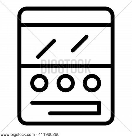Comment Interface Icon. Outline Comment Interface Vector Icon For Web Design Isolated On White Backg