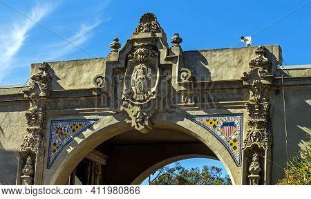 San Diego, Ca - November 13,2016:architecture In Balboa Park In San Diego, California,united States