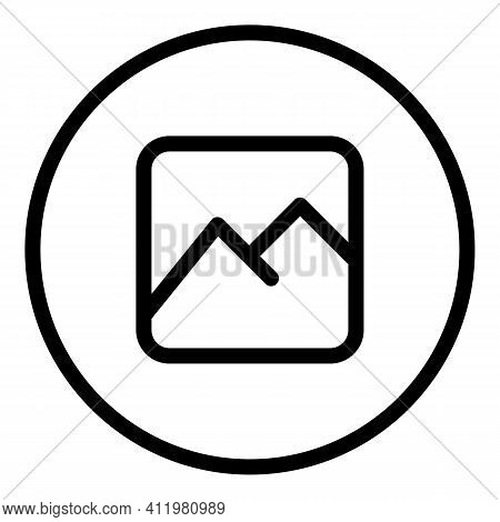 Upload Picture Interface Icon. Outline Upload Picture Interface Vector Icon For Web Design Isolated