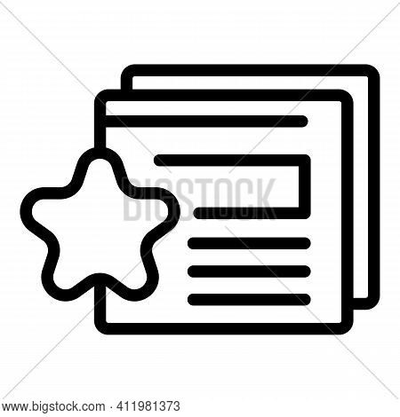 Favorite Interface Icon. Outline Favorite Interface Vector Icon For Web Design Isolated On White Bac