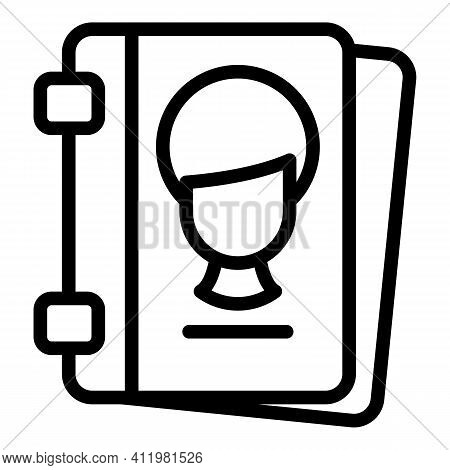 Card Profile Interface Icon. Outline Card Profile Interface Vector Icon For Web Design Isolated On W