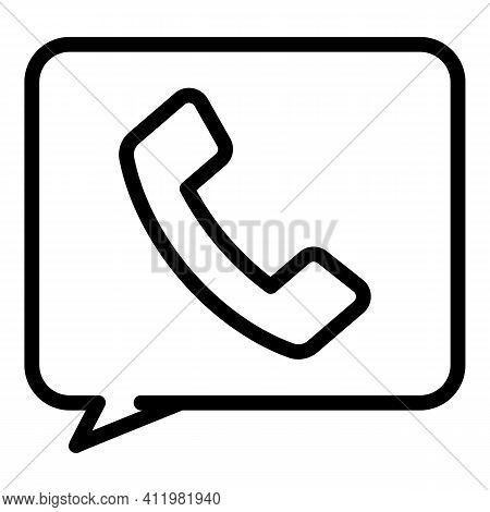 Call Sms Interface Icon. Outline Call Sms Interface Vector Icon For Web Design Isolated On White Bac