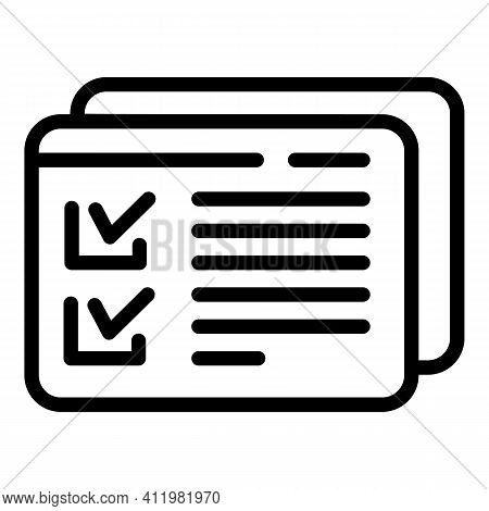Approved Site Interface Icon. Outline Approved Site Interface Vector Icon For Web Design Isolated On
