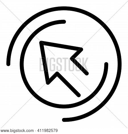 Cursor Interface Icon. Outline Cursor Interface Vector Icon For Web Design Isolated On White Backgro