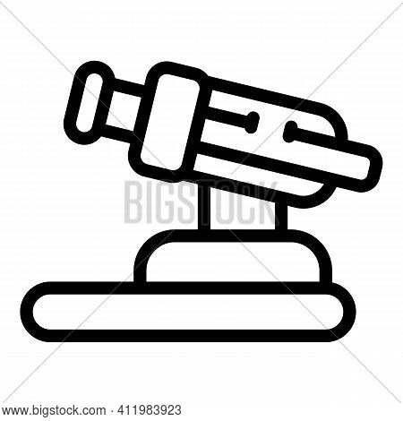 Optometry Microscope Icon. Outline Optometry Microscope Vector Icon For Web Design Isolated On White