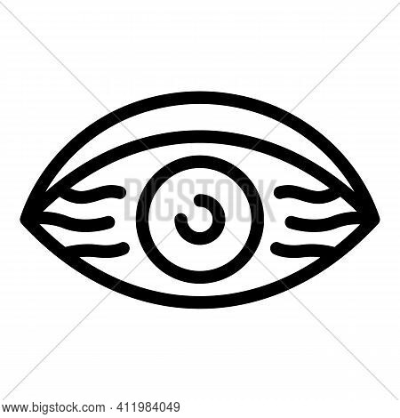 Daily Tired Eye Icon. Outline Daily Tired Eye Vector Icon For Web Design Isolated On White Backgroun
