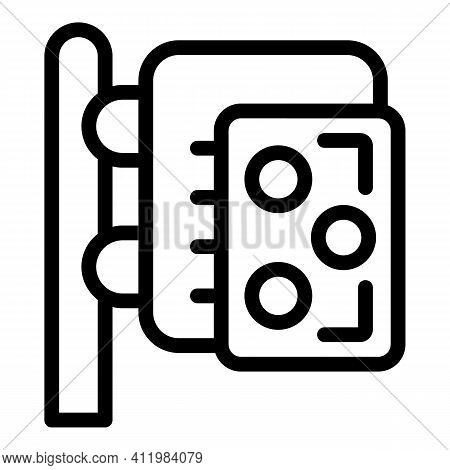 Optometry Stand Icon. Outline Optometry Stand Vector Icon For Web Design Isolated On White Backgroun