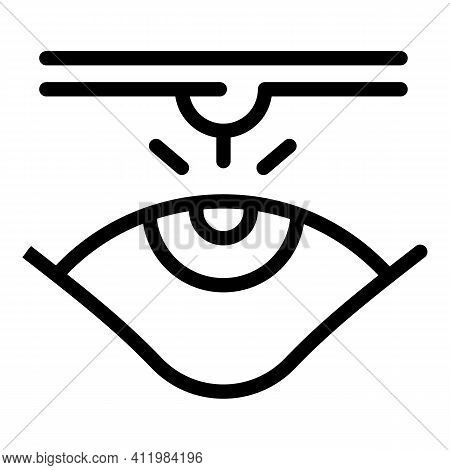 Eyes Laser Surgery Icon. Outline Eyes Laser Surgery Vector Icon For Web Design Isolated On White Bac