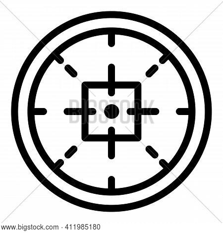 Target Sight Icon. Outline Target Sight Vector Icon For Web Design Isolated On White Background