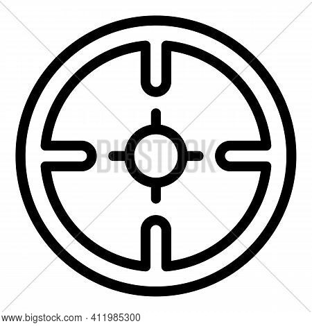 Circular Sight Icon. Outline Circular Sight Vector Icon For Web Design Isolated On White Background