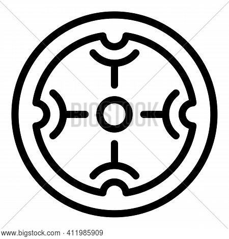 Scope Focus Icon. Outline Scope Focus Vector Icon For Web Design Isolated On White Background