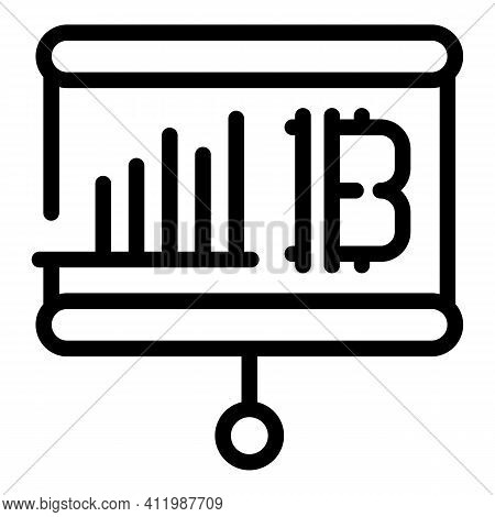 Blockchain Banner Icon. Outline Blockchain Banner Vector Icon For Web Design Isolated On White Backg