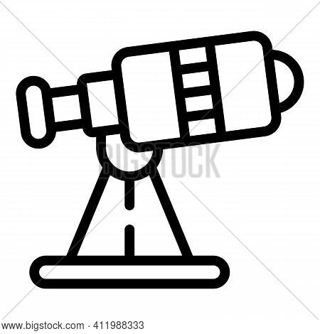 Telescope Icon. Outline Telescope Vector Icon For Web Design Isolated On White Background