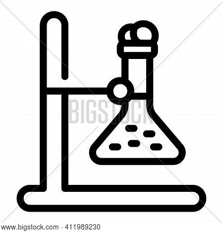 Scientist Flask Stand Icon. Outline Scientist Flask Stand Vector Icon For Web Design Isolated On Whi