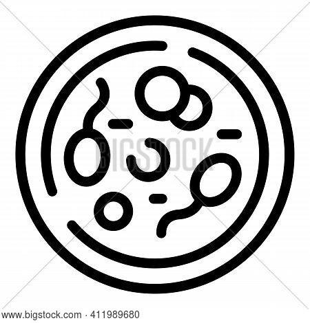 Laboratory Petri Dish Icon. Outline Laboratory Petri Dish Vector Icon For Web Design Isolated On Whi