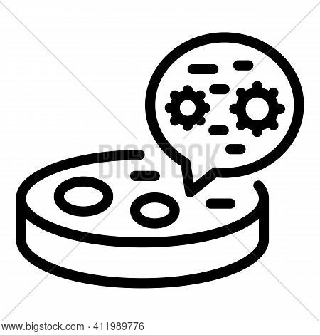 Biology Petri Dish Icon. Outline Biology Petri Dish Vector Icon For Web Design Isolated On White Bac