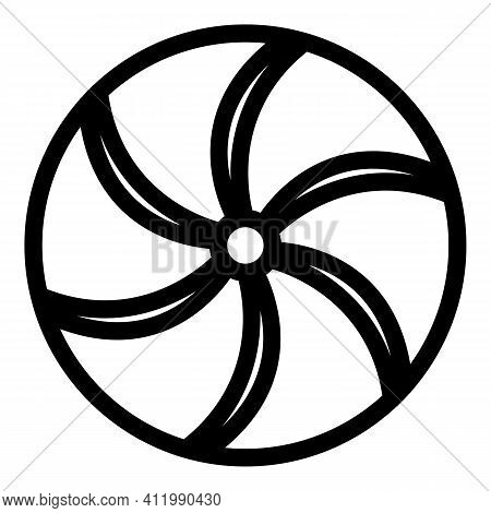 Perpetual Motion Circle Icon. Outline Perpetual Motion Circle Vector Icon For Web Design Isolated On