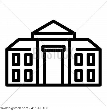 Academic Campus Icon. Outline Academic Campus Vector Icon For Web Design Isolated On White Backgroun