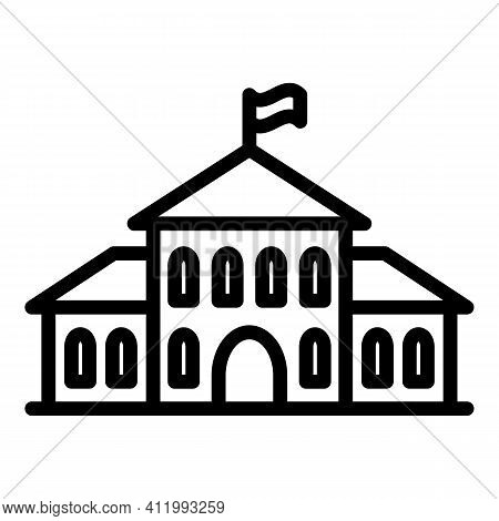 Middle Campus Icon. Outline Middle Campus Vector Icon For Web Design Isolated On White Background