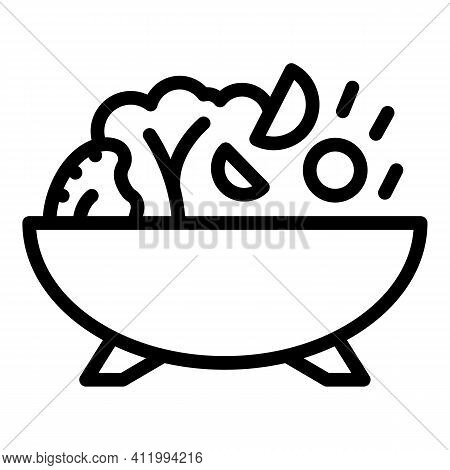 Wok Menu Food Icon. Outline Wok Menu Food Vector Icon For Web Design Isolated On White Background