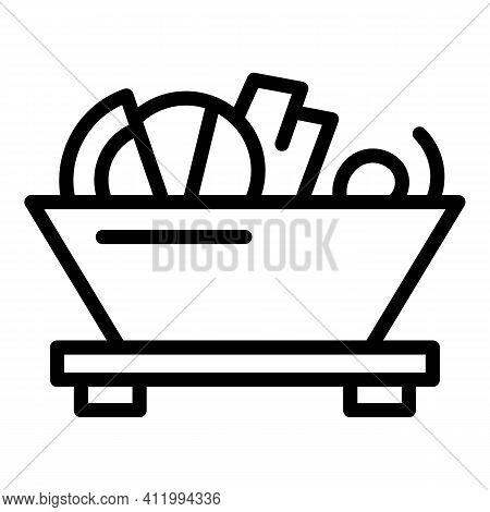 Ramen Food Icon. Outline Ramen Food Vector Icon For Web Design Isolated On White Background