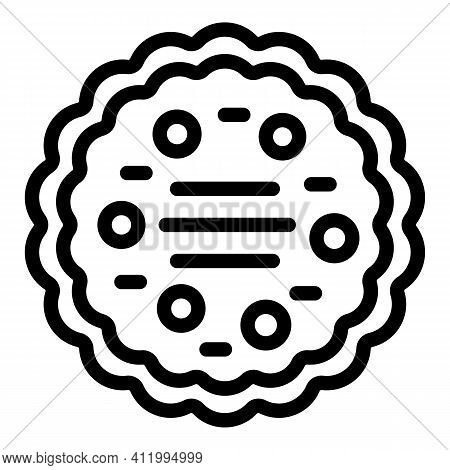 Cookie Molds Bake Icon. Outline Cookie Molds Bake Vector Icon For Web Design Isolated On White Backg