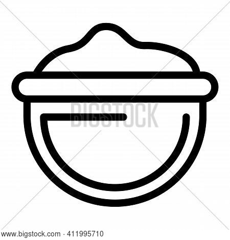 Cooking Flour Icon. Outline Cooking Flour Vector Icon For Web Design Isolated On White Background