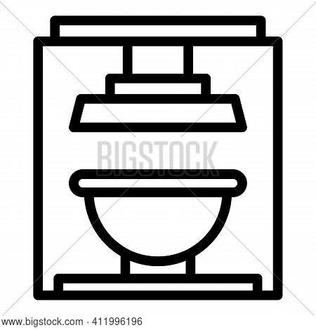 Press Machine Icon. Outline Press Machine Vector Icon For Web Design Isolated On White Background