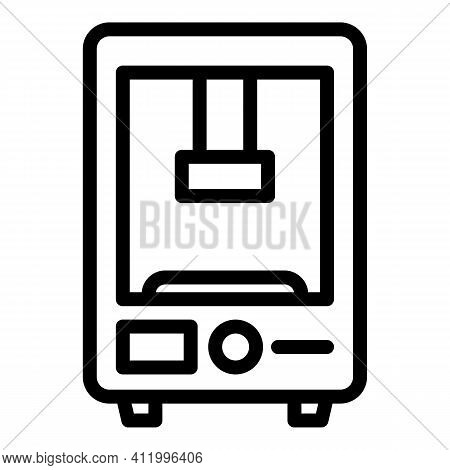 Automation Press Machine Icon. Outline Automation Press Machine Vector Icon For Web Design Isolated