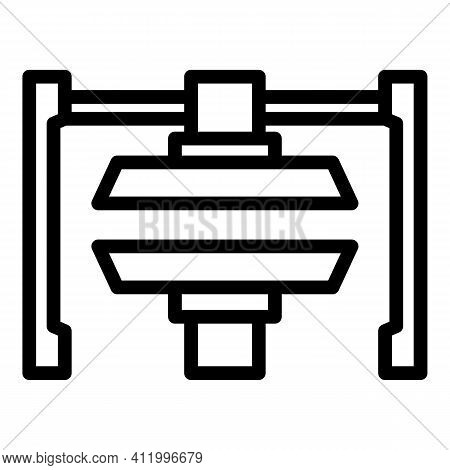 Hydraulic Press Machine Icon. Outline Hydraulic Press Machine Vector Icon For Web Design Isolated On