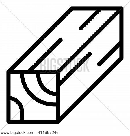 Plywood Plank Icon. Outline Plywood Plank Vector Icon For Web Design Isolated On White Background