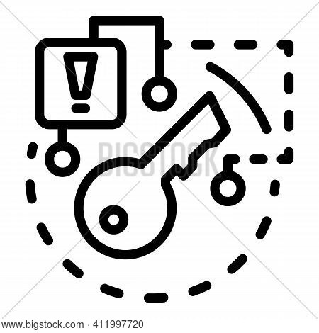 Risk Malware Icon. Outline Risk Malware Vector Icon For Web Design Isolated On White Background