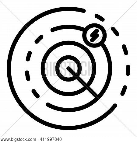 Scanning Malware Icon. Outline Scanning Malware Vector Icon For Web Design Isolated On White Backgro