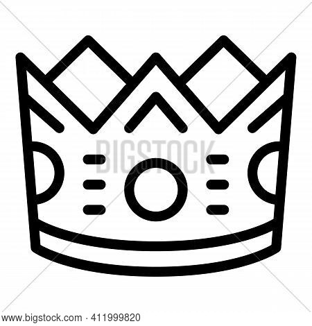 Winner Crown Icon. Outline Winner Crown Vector Icon For Web Design Isolated On White Background