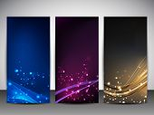 Abstract website banner set. EPS 10. poster