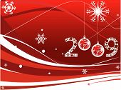 Abstract New Year background with snowflakes. Vector Illustration poster