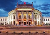 Theater Burgtheater of Vienna Austria at night poster