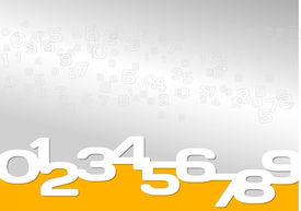 Background gray, orange, numeric