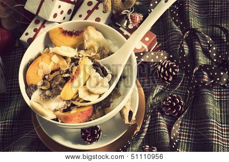 Christmas Breakfast Cereals Vintage